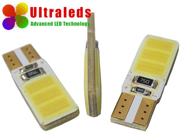 Żarówka LED W5W T10 12 Chips COB High Power CanBus Biała
